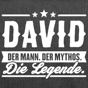 Mann Mythos Legende David - Schultertasche aus Recycling-Material