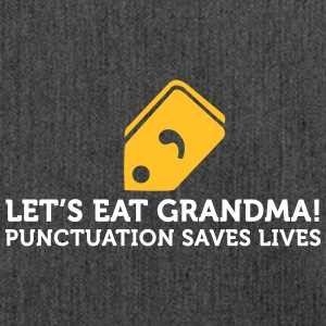 Comment manger à la grand-mère! Save the Punctuation Life! - Sac bandoulière 100 % recyclé