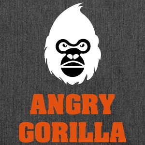 angry_gorilla_white - Sac bandoulière 100 % recyclé