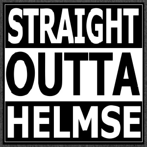 straight outta helmse - Schultertasche aus Recycling-Material