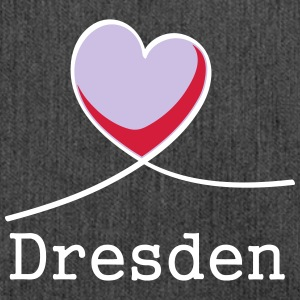 I love Dresden! - Shoulder Bag made from recycled material