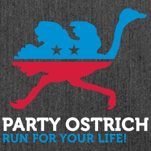 Political Party Animals: Ostrich - Shoulder Bag made from recycled material