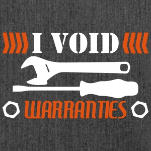 I Void Warranties - mechanic funny - Shoulder Bag made from recycled material