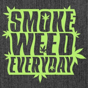 SMOKE_WEED_EVERYDAY - Sac bandoulière 100 % recyclé