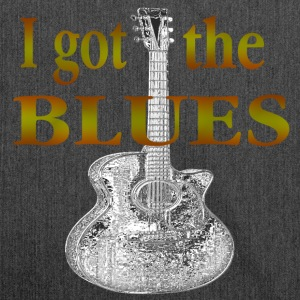 I got the BLUES - Schultertasche aus Recycling-Material