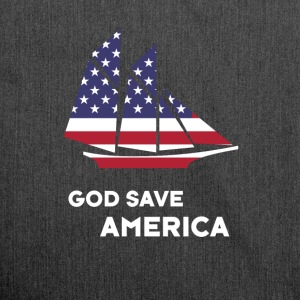 america sail USA Flag God Bless America - Shoulder Bag made from recycled material