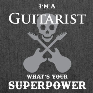 I'm a guitarist and what are your super powers ?! - Shoulder Bag made from recycled material