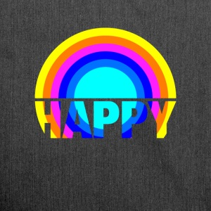 Happy Rainbow Gay Pride Regenbogen Kunst Design - Schultertasche aus Recycling-Material