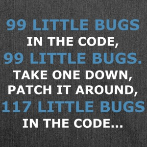 99 LITTLE BUGS IN THE CODE - Schultertasche aus Recycling-Material