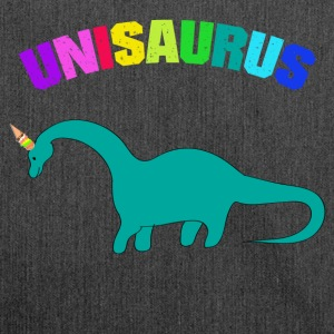 CUTE UNISAURUS ICE CREAM SHIRT - Shoulder Bag made from recycled material
