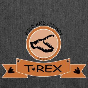T REX WILD AND HUNGRY - Schultertasche aus Recycling-Material