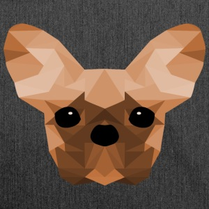 French Bulldog arancione Low Poly design - Borsa in materiale riciclato