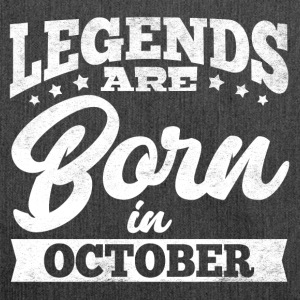 Legends Are Born In October - Shoulder Bag made from recycled material