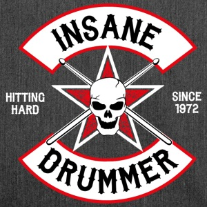 Insane Drummer - Biker Logo - Hitting Hard - Shoulder Bag made from recycled material