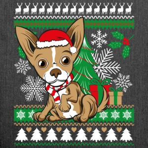 Chihuahua Weichnachten Ugly Sweater - Shoulder Bag made from recycled material