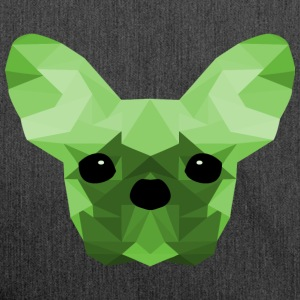 French Bulldog Low Poly Design green - Shoulder Bag made from recycled material