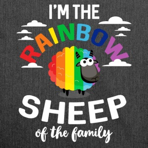 I'm the rainbow sheep of the family - Shoulder Bag made from recycled material