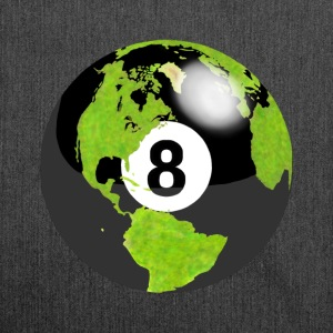 8-ball earth planet globe erde globus - Schultertasche aus Recycling-Material