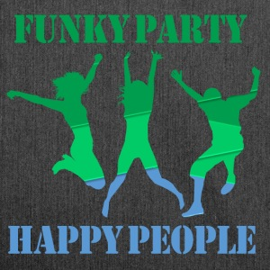 Funky Party Happy People - Shoulder Bag made from recycled material