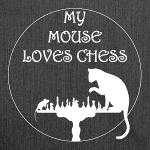My mouse loves Chess - Shoulder Bag made from recycled material