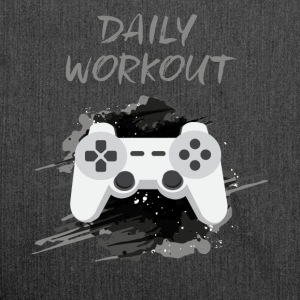 Video Game! Daily Workout! - Schoudertas van gerecycled materiaal