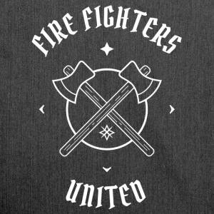 Firefighters United - firefighters and ax - Shoulder Bag made from recycled material