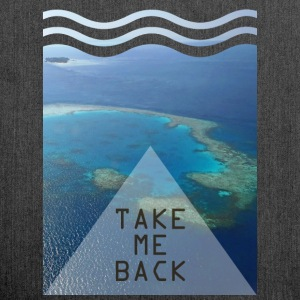 Take me back - Schultertasche aus Recycling-Material