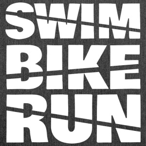 Swim Bike Run - Schultertasche aus Recycling-Material