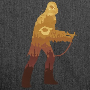 Chewbacca Silhouette - Shoulder Bag made from recycled material