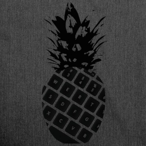 keyboard pineapple - Shoulder Bag made from recycled material
