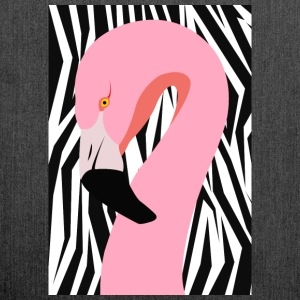 Crossover-Flamingo - Schultertasche aus Recycling-Material