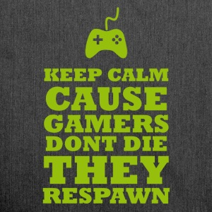 Gamers Respawn - Schultertasche aus Recycling-Material
