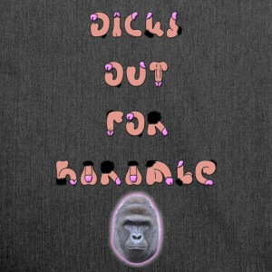 Dicks Out For Harambe - Skulderveske av resirkulert materiale