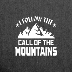 Follow the Call of the Mountains! - Schultertasche aus Recycling-Material