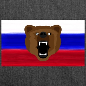 Russian Bear / Russia / Россия, Rossia, flag - Shoulder Bag made from recycled material