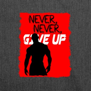 Never, Never, Give Up - Borsa in materiale riciclato