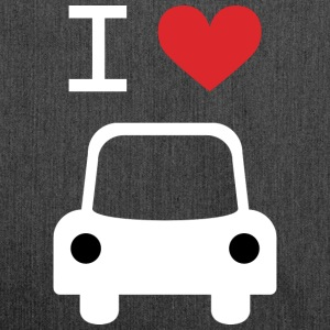 I love Car - Schultertasche aus Recycling-Material