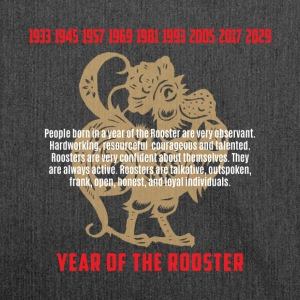 Year of The Rooster Traits Characteristics - Shoulder Bag made from recycled material