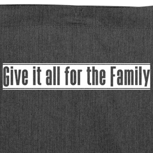 Give_it_all_for_the_Family - Schultertasche aus Recycling-Material
