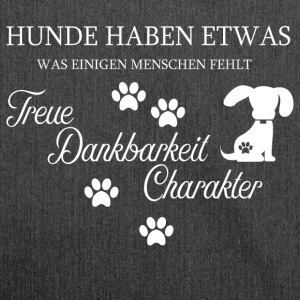 Hund HUNDE TREUE - Schultertasche aus Recycling-Material