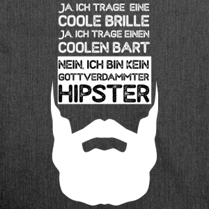 coole Brille - cooler Bart - kein Hipster - Schultertasche aus Recycling-Material