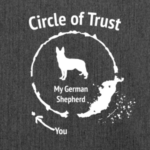 Funny German Shepherd Shirt - Circle of Trust - Shoulder Bag made from recycled material