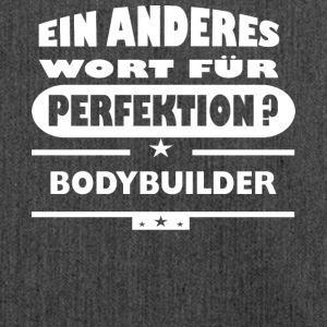 Proteinrocks Bodybuilder Anderes Wort fuer Perfekt - Schultertasche aus Recycling-Material