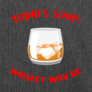 Whiskey - Today's Soup: Whiskey with Ice - Shoulder Bag made from recycled material