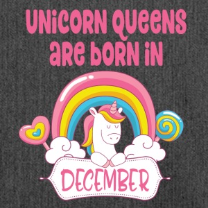 Unicorn Queens are born in December - Shoulder Bag made from recycled material