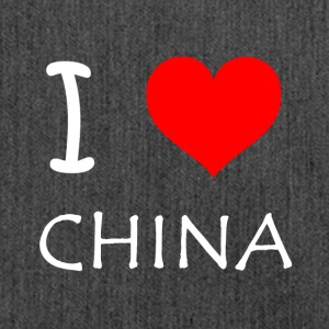 I Love CHINA - Schultertasche aus Recycling-Material