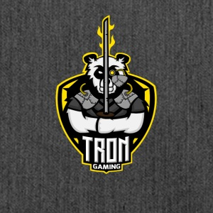 Tron gaming Logo Yellow Transparent - Shoulder Bag made from recycled material