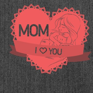 Mom I <3 you - Schultertasche aus Recycling-Material