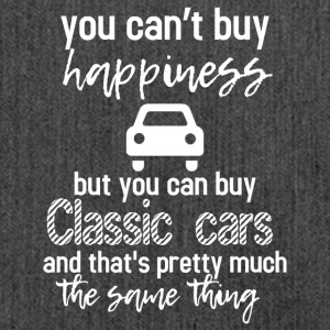 You can't buy happiness but you can buy cars - Schultertasche aus Recycling-Material