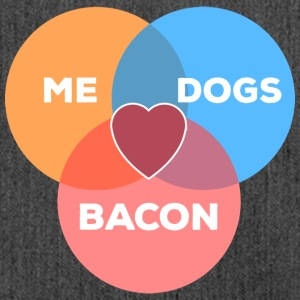 me + dogs + bacon - Shoulder Bag made from recycled material